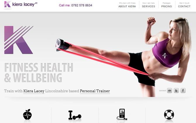 Kiera Lacey Fitness個人教練網站設計