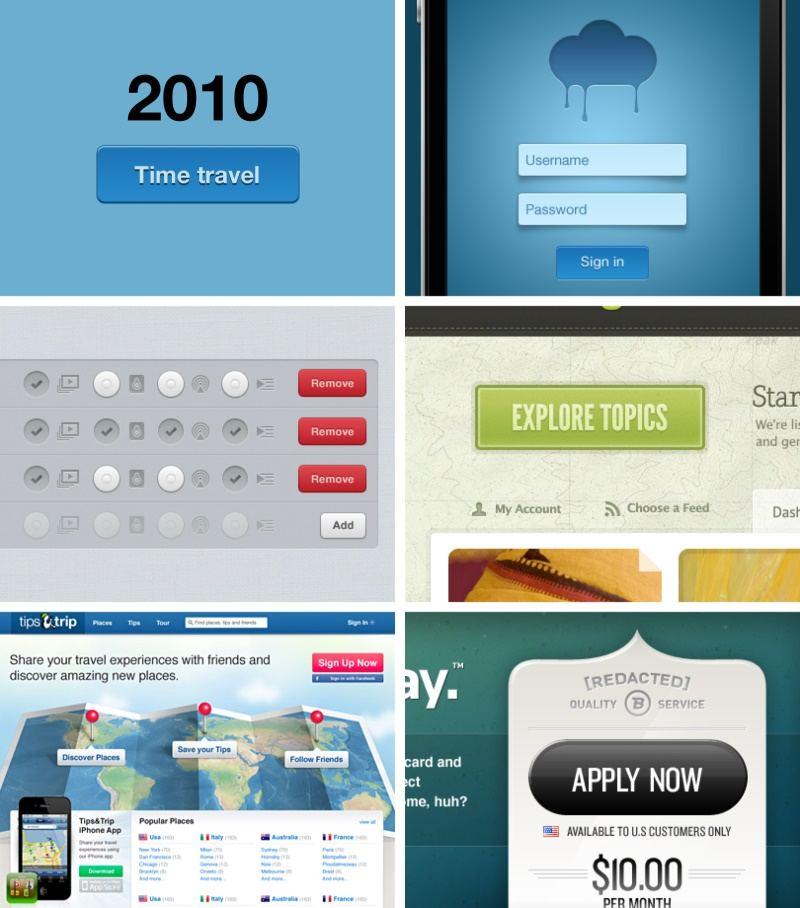 2009到2017年按鈕設計變化的趨勢