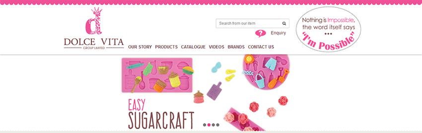 蛋糕網頁設計案例——Dolce Vita蛋糕網站