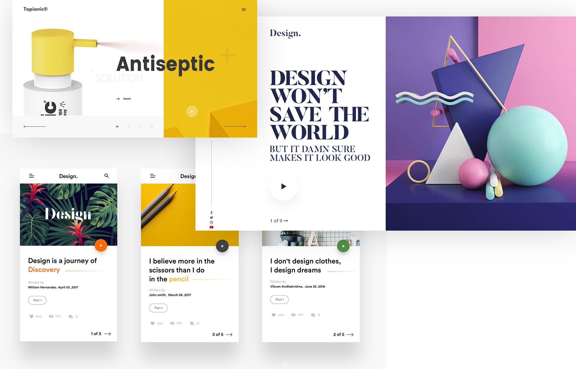 2018年網頁設計趨勢之UI設計和動畫設計