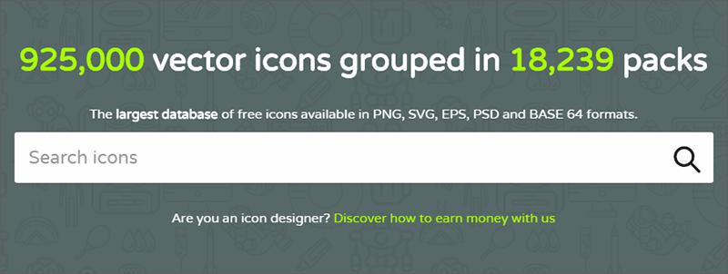 設計師必看:六個免費UI圖標設計的資源網站