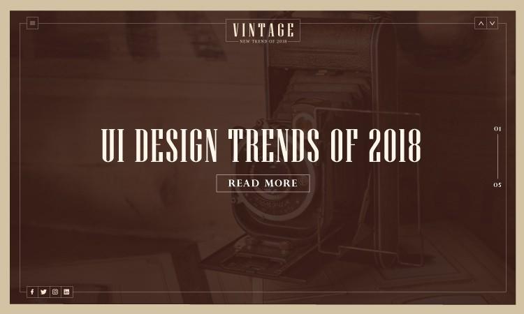 2018年正在流行的UI設計流行趨勢