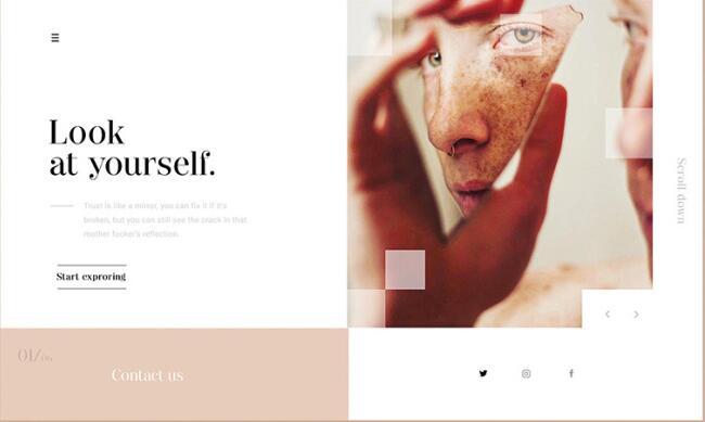 網頁設計技巧:常見的排版佈局分割技巧
